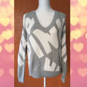 Forenza For VS PINK Gray and White Sweater
